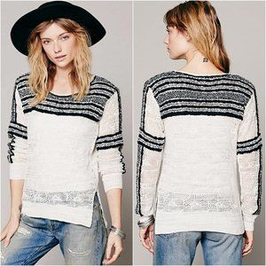 Free People XS Miles Away Swit Pullover Sweater